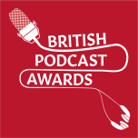 British Podcast Awards - White on Red Square